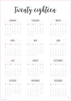 4 Four Year 2018 2019 2020 2021 Calendar Printable