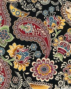 :: eQuilter Belle Notte - Paisley A La Russe - Black :: Note the shading on the gold floral motif at 8 oclock. - WorkLAD - Lad Banter Funny LAD Pics