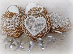 svatební srdíčka v krajkách -  variační