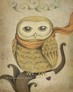 Owl Illustration by TheWishForest,