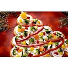 Tree-Shaped Crescent Veggie Appetizers II Recipe