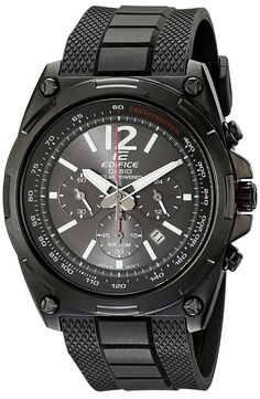 Casio Men's EFR-545SBPB-1BVCF Edifice Tough Solar Black Watch ** More info could be found at the image url.