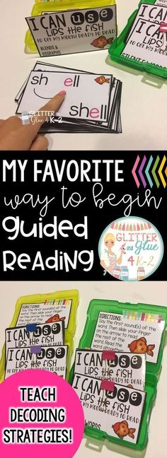 Using Decoding Strategies: Start Guided Reading Off Right!
