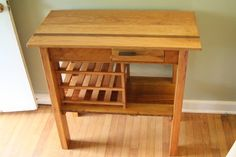 Custom Made Oak And Heart Pine Wood Wine Table Made From Repurposed And Reclaimed 1894 Wood. I have an old wine table I want to repurpose to something like this.