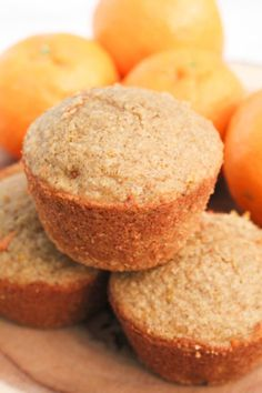 Orange Carrot Oat Muffins (gluten-free, flourless, whole grain, dairy-free, low sugar) - Mile High Mitts Orange Muffins, Oat Muffins, Healthy Muffins, Oat Pancakes, Cookies Gluten Free, Gluten Free Muffins, Gluten Free Recipes, Flour Recipes, Pumpkin Oatmeal Cookies