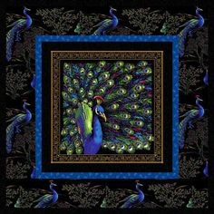 1000 Images About Quilts Peacock Quilts On Pinterest