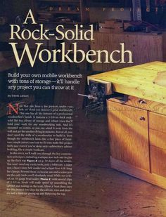 Rock-Solid Workbench Plans - Workshop Solutions