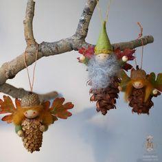 PINECONE FAIRY & ELF  TUTORIAL  How to make Ornaments & Standing Pinecone Wee Folk   Pinecone Elves and Fairies that stand on their own...