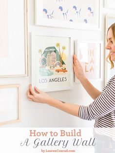 How to Build a Gallery Wall {by LaurenConrad.com}