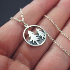 Mountain Scene Necklace Sterling Silver by themoonflowerstudio