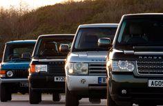4 gerações do Range Rover. Um clássico