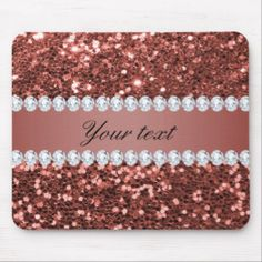 Shop Rose Gold Faux Glitter and Diamonds Personalized Mouse Pad created by glamgoodies. Personalize it with photos & text or purchase as is! Sparkles Glitter, Rose Gold Glitter, Custom Mouse Pads, Create Yourself, Diamonds, Mousepad, Gifts, Elegant, Big