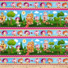 Lalaloopsy Cute As A Button Repeating Stripe Multi from @fabricdotcom  Licensed to Quilting Treasures, this fabric is perfect for quilting, home décor accents, craft projects and apparel. Colors include