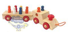 Mini trem de passageiros, Mini trem de passageiros GR Brinquedos, GR Brinquedos Brinquedos Educativos, Trenzinho de Madeira, Trenzinho com Pinos em Madeira