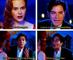 One of my favorite movies ever, Moulin Rouge! Moulin Rouge Movie, Le Moulin, Movies Showing, Movies And Tv Shows, Ewan Mcgregor, Elephant Love, About Time Movie, Film Quotes, Les Miserables