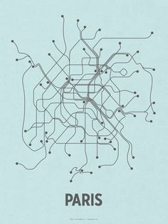 Paris (Light Blue & Dark Gray) Serigrafia