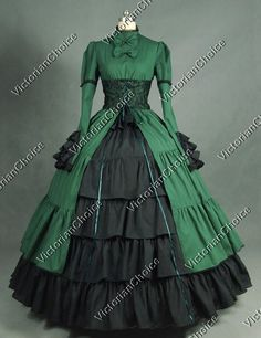 Victorian Lace Corset Period Dress Ball Gown Steampunk Reenactment Costume