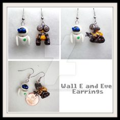 Wall E and Eve Earrings by stevoluvmunchkin on DeviantArt