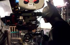Behind the Scenes of The Dark Knight: Christian Bale as Batman rewatching his scene