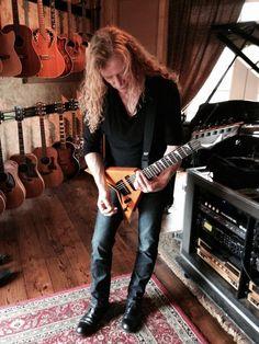 Dave in the studio, April 2015