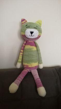 Crochet cat :) Cats, Crochet, Gatos, Ganchillo, Cat, Kitty, Crocheting, Knits, Chrochet