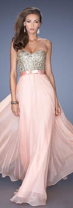 Fashion Natural Chiffon Sweetheart Pink Long Prom Dress In Stock topgradedresses14212 #promdress
