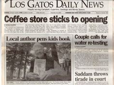 Made the cover of LOS GATOS DAILY NEWS. :-)