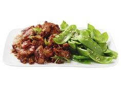 Sesame Chicken With Snow Peas from #FNMag #myplate #protein #veggies