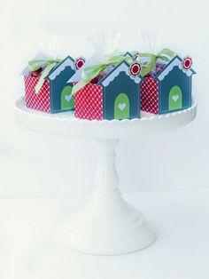 Casas de pan de jengibre cajas para Navidad