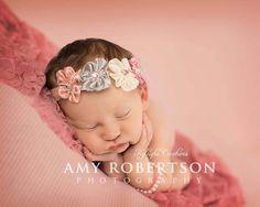 Pearl pink bracelet newborn bracelet newborn by KyleighsCreations, $5.00