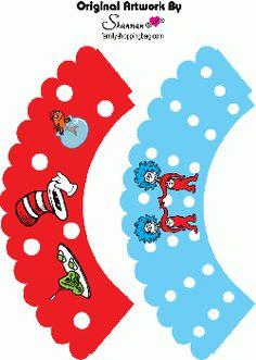 Free Printable Dr Seuss Cupcake Wrappers
