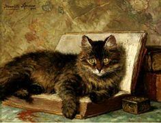 Henriëtte Ronner-Knip, Il gatto saggio.