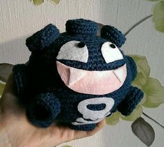 "Koffing Pokemon Character - Free Amigurumi Pattern - PDF Format - Click to ""download"" here: http://www.ravelry.com/patterns/library/amigurumi-koffing"