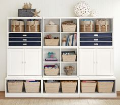 26 Ideas Pottery Barn Kids Storage Offices For 2019 Pottery Barn Playroom, Pottery Barn Furniture, Baby Furniture, Pottery Barn Kids, Furniture Dolly, Wall Storage Systems, Cubby Storage, Ikea Storage, Bedroom Storage