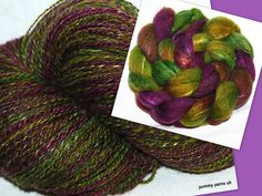 Yummy Yarns UK Extra Fine Extra Blended 70% Oatmeal BFL/30% Tussah Silk     Colour - Toledo    approx 391 yds fingering