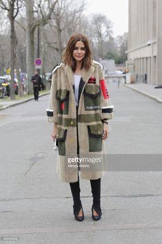 Fashion editor, Christine Centenera seen at the Miu Miu fashion show during Paris Fashion Week Womenswear Fall/Winter 2018/2019 on March 6, 2018 in Paris, France.