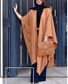 Street Hijab Fashion, Abaya Fashion, Muslim Fashion, Modest Fashion, Fashion Outfits, Hijab Style, Hijab Chic, Wedding Saree Blouse Designs, Iranian Women Fashion