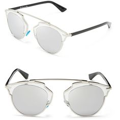 043948743520 Dior So Real Mirrored Sunglasses ( 545) ❤ liked on Polyvore featuring  accessories