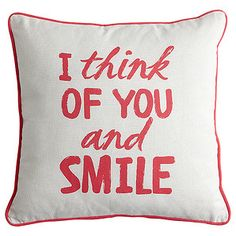 The Smile cushion is a great way to add a fresh new look and feel to your home decor. Featuring a cute decal theme and bold piped edging, it makes for a comfy stylish and practical addition to your living room decor.