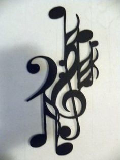 Amazon.com: Music and Notes Art Deco Metal Wall Art Home Decor: Home & Kitchen