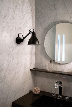 Buy online N° 304 bathroom By dcw éditions, adjustable wall light for bathroom design Bernard-Albin Gras, lampe gras Collection Bathroom Wall Lights, Bathroom Lighting, Light Bathroom, Wall Lamps, Ceiling Lamp, Le Corbusier, Black And White Tiles Bathroom, Dcw Editions, Lampe Gras