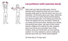 Lat pulldown with a resistance band.