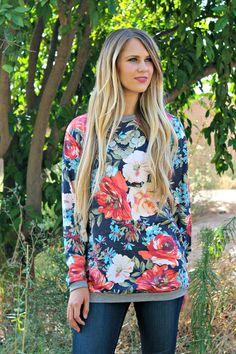 Fall Floral Sweatshirt!   Jane
