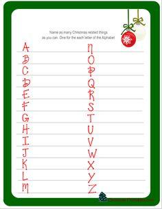 free printable christmas word games - Christmas Games For Groups