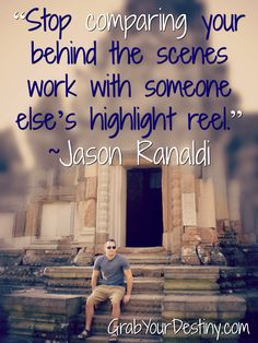 """Stop comparing your behind the scenes work with someone else's highlight reel."" ~Jason Ranaldi  #AngkorWat #Cambodia #SiemReap #JasonAndMichelleRanaldi #GrabYourDestiny #YourPurpose #workfromanywhere #passiveincome #entrepreneurmindset"