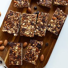 Chocolate Chip Almond Butter Granola Bars | Minimalist Baker Recipes