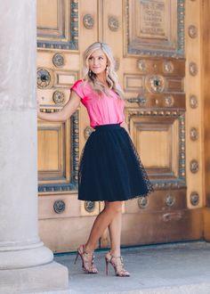 [Love Courtney Lee] the Ella polka dot tulle skirt