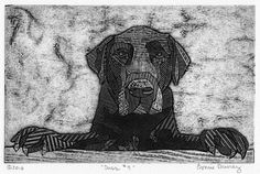 Dusk (Bk&Wt Collagraph of Labrador Retriever) by Bonnie Murray on Curiator, the world's biggest collaborative art collection. Crab Art, Seaside Art, Black Labrador Retriever, Collagraph, Digital Museum, Collaborative Art, Free Dogs, Dog Art, Art Pictures