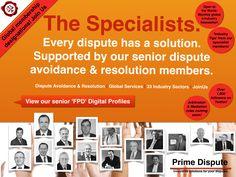 Every Dispute has a solution!  www.primedispute.com  #Arbitration #adjudication #disputeboards #industry #disputes #litigation #legal #PrimeDispute #business #commercial #e-Industry #world #earlyneutralevaluation