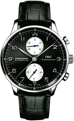 Discover a large selection of IWC Portuguese Chronograph watches on - the worldwide marketplace for luxury watches. Compare all IWC Portuguese Chronograph watches ✓ Buy safely & securely ✓ Dream Watches, Luxury Watches, Cool Watches, Watches For Men, Fancy Watches, Black Watches, Expensive Watches, Mens Watches Leather, Sport Watches